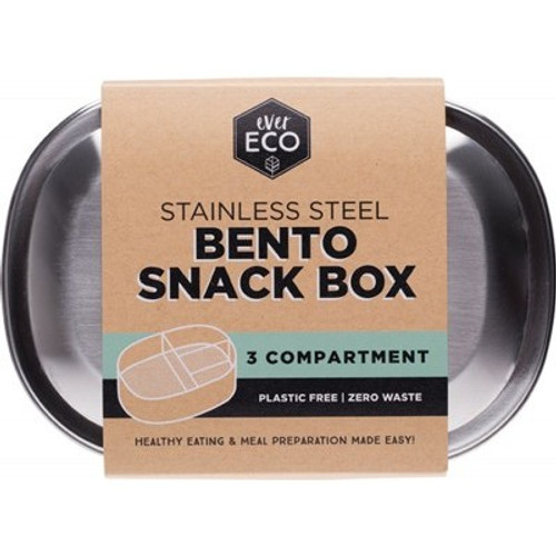 Ever Eco Stainless Steel Bento Snack Box - 3 compartment