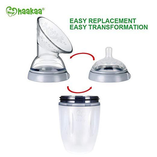 Haakaa Generation 3 Silicone Bottle and Pump Flange Combo - 160ml