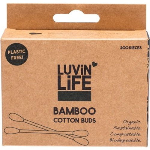 Luvin Life Bamboo Compostable Ear Buds - 200pk