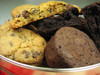 If you Valentine loves chocolate - don't fight it.  Give them a tin of our chocolate chip cookies and rich, dark, big chocolate brownies.