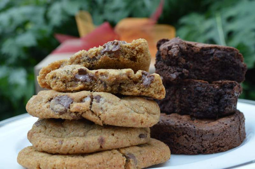 You'll taste the goodness in every bite of our hand-made gourmet cookies and big chocolate brownies.