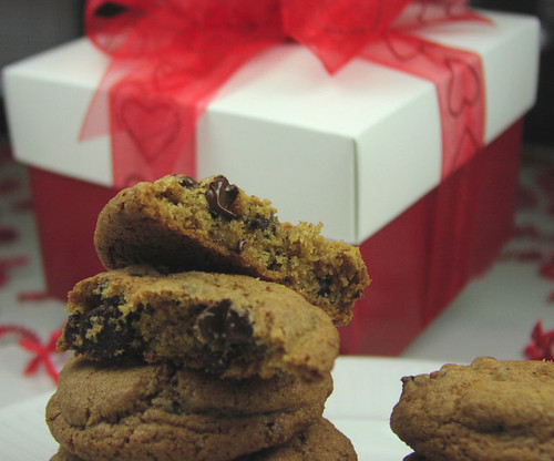 If your Valentine loves chocolate chip cookies, our gift box of one dozen is sure to be a hit!  Plenty to enjoy - enough to share the love.