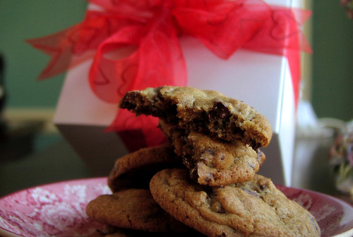 Valentine's Day gift box of gourmet cookies