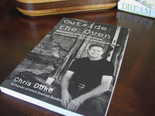 Outside the Oven is Chris' hand-selected collection of stories about life and running a gourmet cookie and brownie gift business.