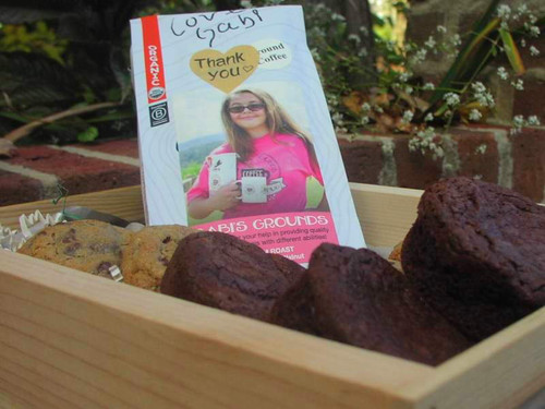 What goes with our gourmet cookies and brownies?  Gabi's Grounds - of course!