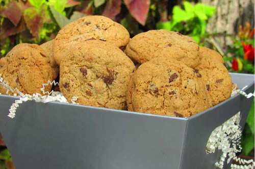 A large gift basket filled with gourmet cookies is a great thank you gift for the whole office or any crowd.