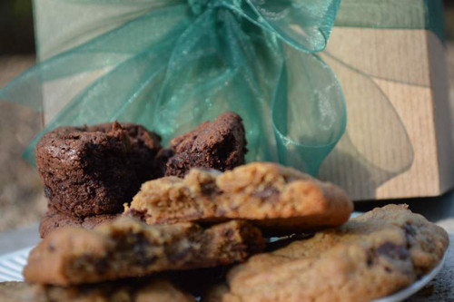 A gift box of gourmet cookies and brownies, shipped direct to friends, family, clients or prospects