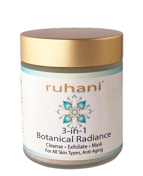 Silk & Stone 100% Natural 3-in-1 Ruhani Botanical Radiance Cleaner for Dry Skin.  Cleanser, Exfoliator and Mask all in one.