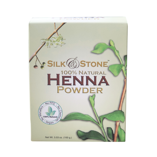 Silk & Stone 100% Pure and Natural Henna Leaf Powder- Organic