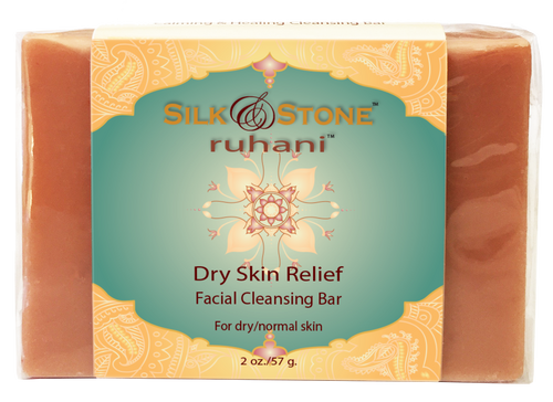 Ruhani Dry Skin Relief Facial Cleansing Bar- 2oz.