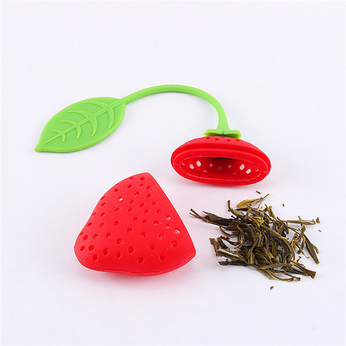 Silicone-Strawberry-Loose-Tea-Leaf-Infuser