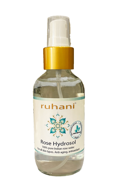 100% Pure rose hydrosol for the skin.  Made from high quality fragrant roses.