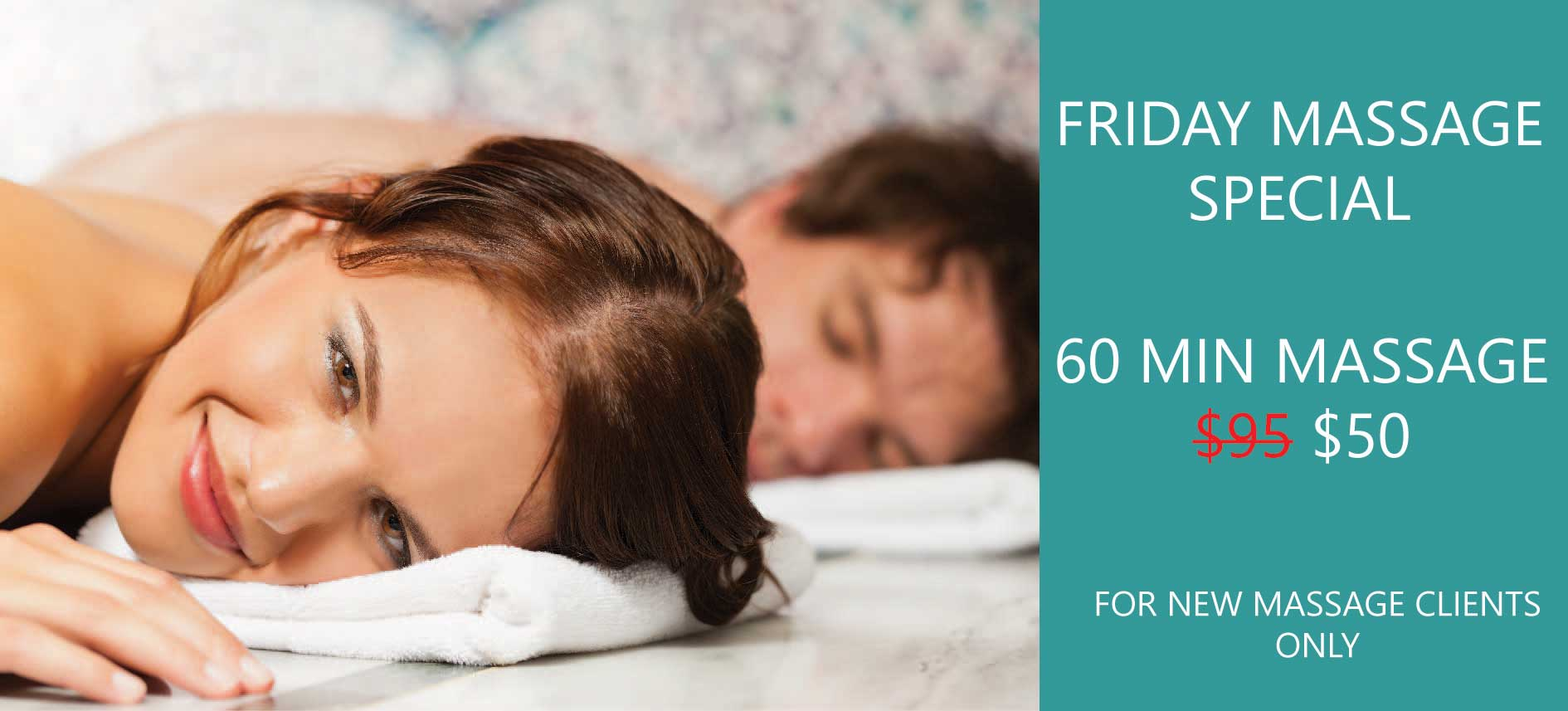 $50 FRIDAY MASSAGE SPECIAL