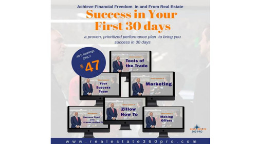 """Real Estate """"Success In Your First 30 Days"""" Program"""