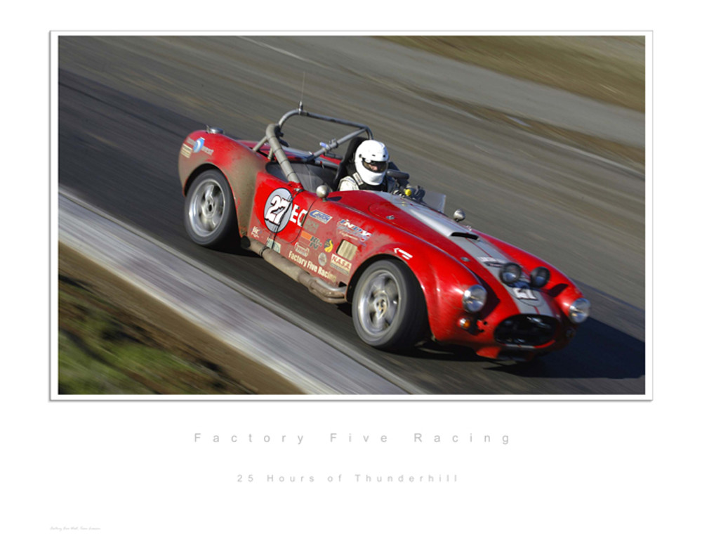#14880 - 25 Hours of Thunderhill Lithograph, Serial Numbered Limited 1 of 499