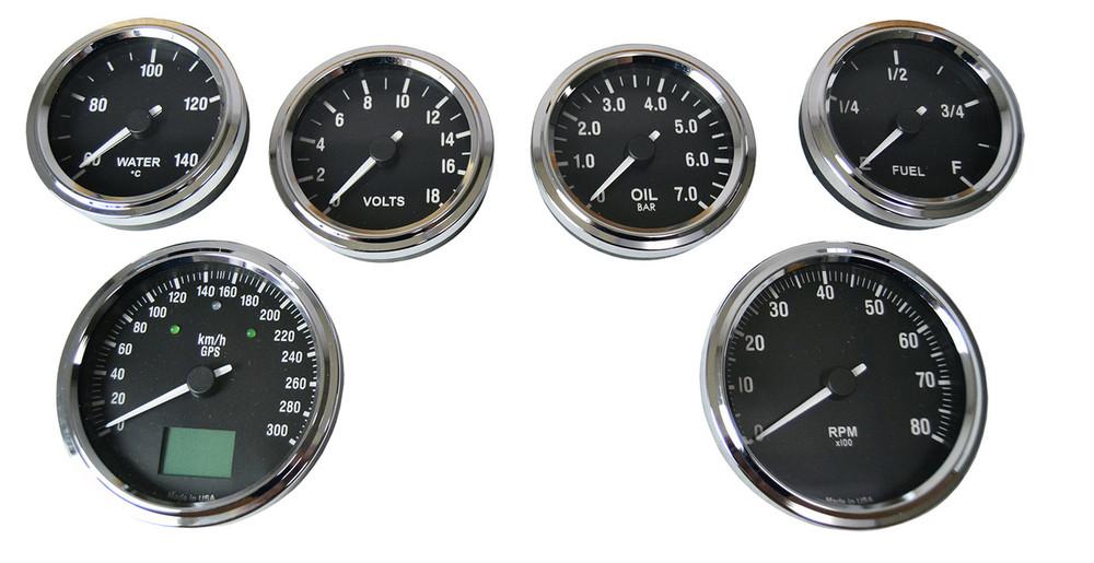 #60506 - Type 65 Coupe GPS Gauge Set - KMH