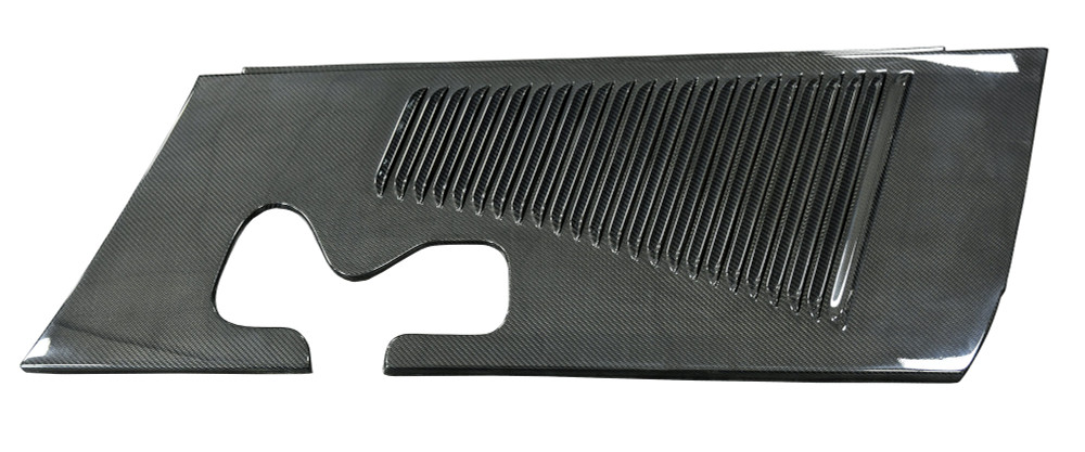 #34956 - Hot Rod Carbon Fiber Engine Side Covers with Louvers