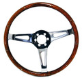 "#12239 - 14"" Wood Rimmed Steering Wheel"