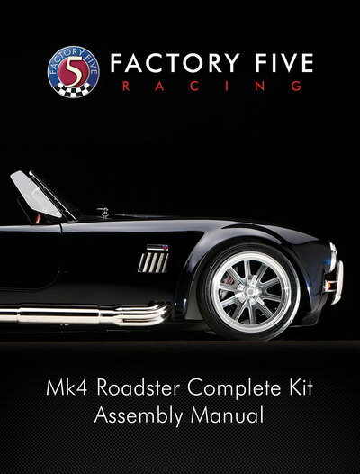 #15074 - Mk4 Roadster Complete Kit Manual - Printed Version