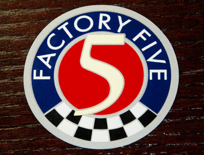 #15503 - Factory Five Logo Sticker