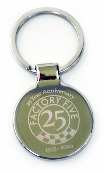 #16901 - Factory Five 25th Anniversary Chrome Keychain