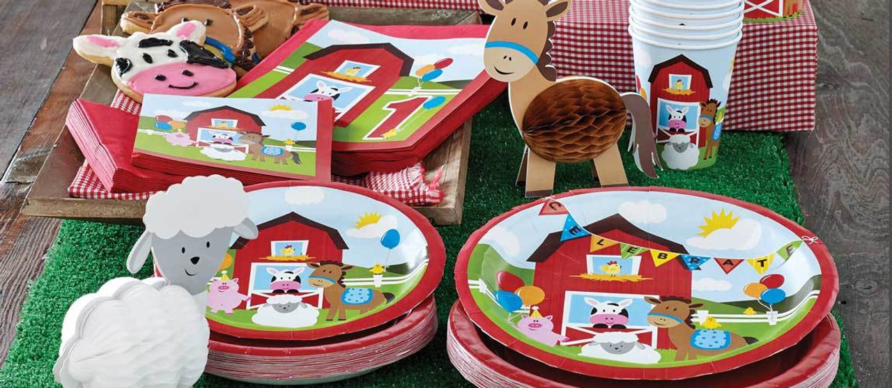 Barnyard Bash Party Supplies For Kids Birthday Party Themes at MTRADE