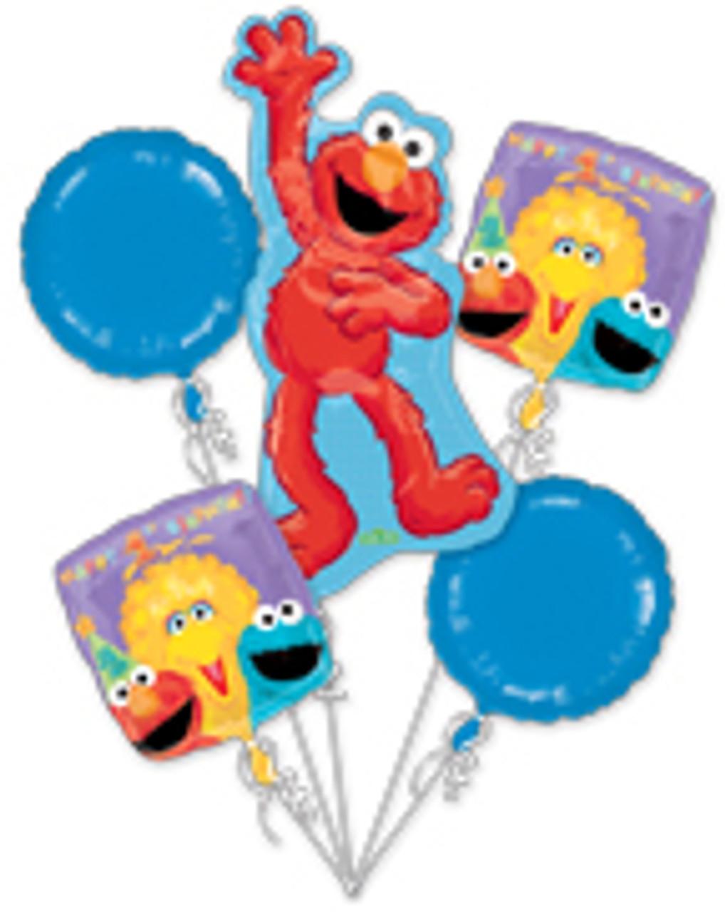 Sesame Street 1st Birthday Balloon Bouquet Mtrade Pte Ltd