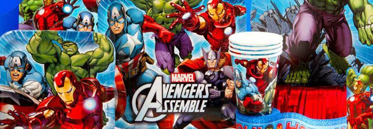 d3001ddc3e85 Home · Birthday Party Themes · Kids Licensed Party Supplies  Avengers  Assemble