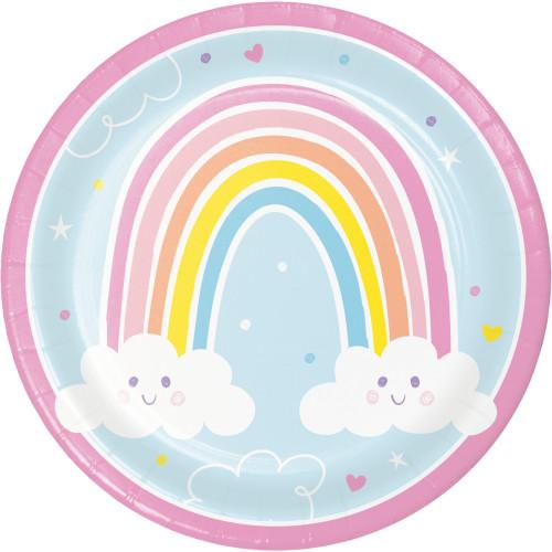 "Happy Rainbow 9"" Dinner Plates"