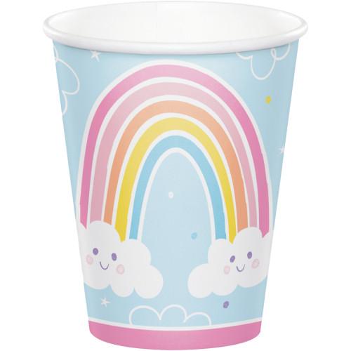 Happy Rainbow 8 oz Paper Cups