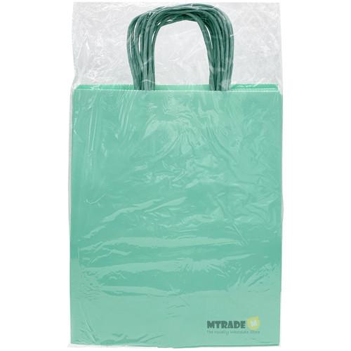 Pastel Green Medium Kraft Paper Gift Bag 12pcs/pack
