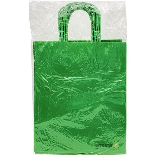 Green Medium Kraft Paper Gift Bag 12pcs/pack