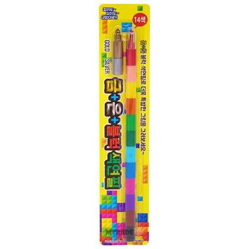 14-Color Stackable Crayon