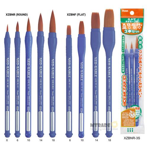 Pentel Neo-Sable Nylon Brush XZBN