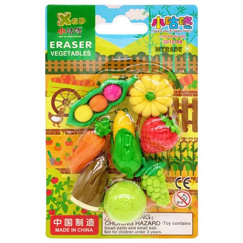 3D Vegetable & Fruit Erasers 8pcs/pack