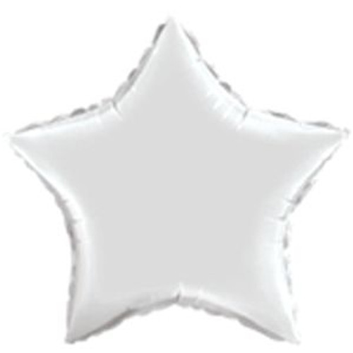 "20"" Metallic Silver Star Foil Balloon"