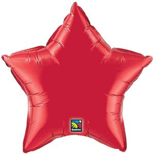 "20"" Metallic Red Star Foil Balloon"