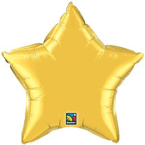 "20"" Metallic Gold Star Foil Balloon"