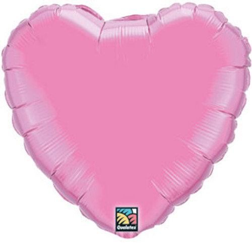 "18"" Metallic Rose Pink Heart Foil Balloon"
