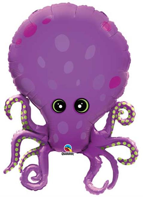"""35"""" Purple Octopus Super Shape Balloon"""