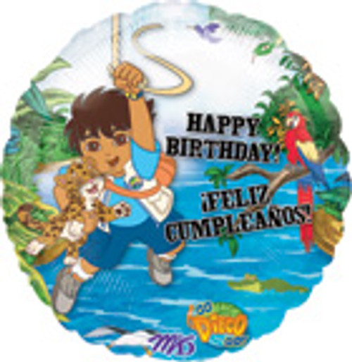 "18"" Happy Birthday Go Diego Go Balloon"