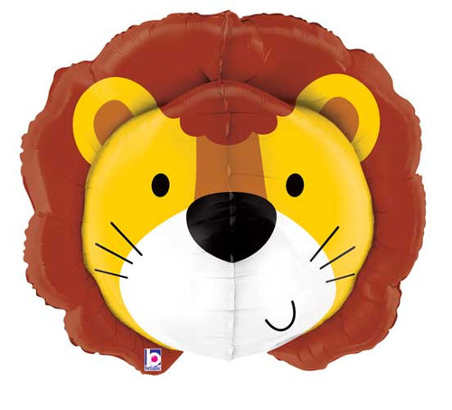 "30"" Lion Head Dimensional Super Shape Balloon"