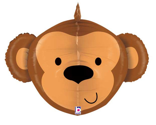 "27"" Monkey Head Dimensional Super Shape Balloon"