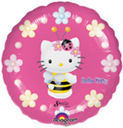"9"" Hello Kitty Bee Air Filled Balloon"