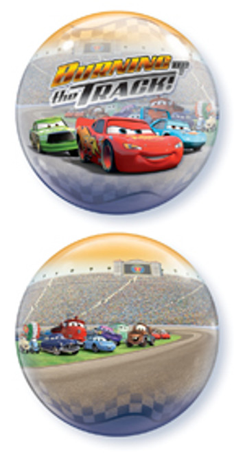 "22"" Disney Cars Burning Up The Track Bubble Balloon"