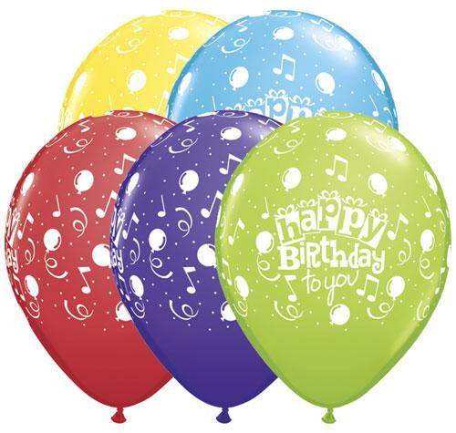 "11"" Happy Birthday To You Latex Balloon"