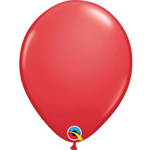 "Qualatex 11"" Standard Red Latex Balloon"