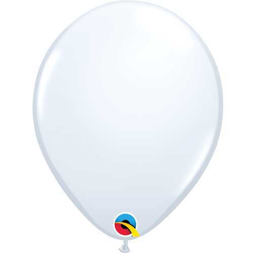 "Qualatex 11"" Standard White Latex Balloon"