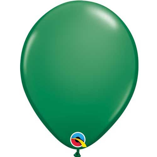 "Qualatex 11"" Standard Green Latex Balloon"