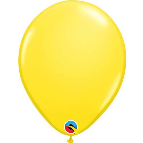 "Qualatex 11"" Standard Yellow Latex Balloon"